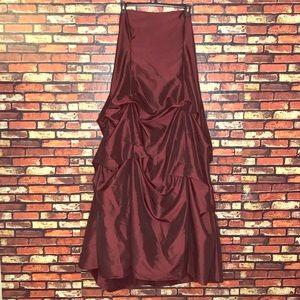 3X Maroon Fiesta Formal Prom Dress